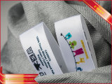 Clothing Printing Care Label Satin Printed Wash Label