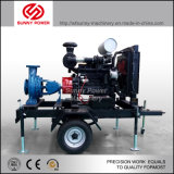Agriculture Irrigation Diesel Engine Water Pump Set with Trailer