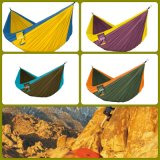 Parachute Nylon Hammock with Tree Strap and Free Carabiners