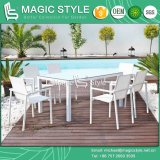 Outdoor Textile Dining Set Garden Sling Dining Chair Patio Dining Table Hotel Furniture