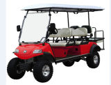 Electric Lifted Car/Cart/Buggy, Sightseeing Car, Utility Vehicle (DEL2042D2Z red, 6-Seater)