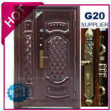 2017 China Top Quality Exterior Metal Steel Security Door (EF-S132B)