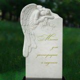 Factory White Marble Angel Tombstone