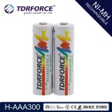 1.2V Rechargeable Low Self Discharge Nickel Metal Hydride China Fatory Battery (HR03-AAA 300mAh)