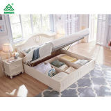 Luxury Home Furniture Royal White Bed Storage Bed Wooden Bed