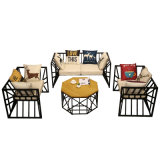 Simple Style Modern Outdoor Garden Leisure Hotel Furniture Metal Sofa