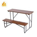 Wood Double School Desk with Bench Primary School Furniture Price List College School Table Bench Attached
