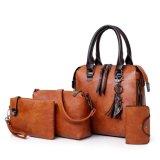 OEM & Wholesale Fashion Lady Handbags 2019 PU Leather Retro Handbag Sets Women Tote Handbag
