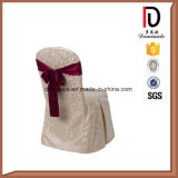 Wedding New Design Chair Cover with Flower (BR-CC034)