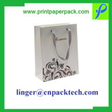 Bespoke Hot Stamping Punching Handle Gift Paper Bag, Fashion Craft Logo Printed Shopping / Carrier Foldable Packaging Bag, Luxury Recycled Gift Packing Bag
