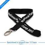 3D Screen Printed Flat Polyester Lanyard Fabric Lockable Monogrammed Embroidered