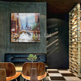 Home Decorative Canvas Painting with Fame for Modern City