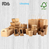 Custom Printed Disposable Paper Fast Food Packaging