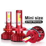 2PCS Car Headlight Bulb H7 LED Mini H4 H1 H3 H11 LED H8 H9 Hb3 9005 Hb4 9006 H27 880 881 6000K 10000lm 50W Auto Headlamp 12V 24V