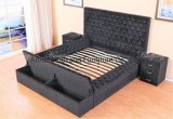 Cloth Pattern Bed Box Bed Upholstered Bedroom Furniture with Drawers & Bed Couch Bedroom Furniture