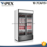 2016 Hot Sell Upright Two Glass Silding Door Upright Coolers for Pepsi