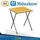 Folding Wood Steel Frame School Exam Table