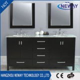 Floor Double Sink Solid Wood Bathroom Vanity Cabinet