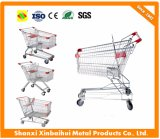 High Quility Chrome Galvanized Supermarket Shopping Cart Trolley