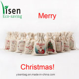 Promotion Cotton Drawstring Bag for Christmas Gift