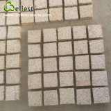 G682 Sunset Yellow Rusty Granite Cube Cobble Meshed Paving Stone