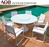 New Style Europe Wholesale Outdoor Garden Hotel Patio Sea Side White Aluminium Tables and Chairs Dining Furniture