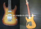 Flamed Maple Top Arched Body Electric Guitar