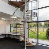 Indoor Decorative Steel Structure Custom Iron Metal Circular Spiral Staircase
