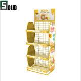 Customized POS 4 Tier Metal Floor Food Honey Display Rack