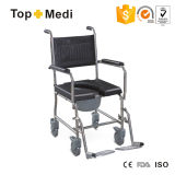 Topmedi Stainless Steel Commode Wheelchair Rear Wheel with Lock