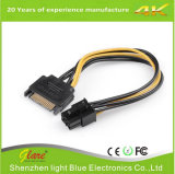 SATA 15pin Male to 6pin PCI Graphics Card Power Cable