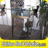 Bespoke High Grade Stainless Steel Jewelry Display Showcase with Glass
