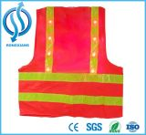 Hi Viz Reflective LED Flashing Safety Adult Orange Vest