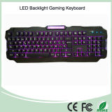 Three Adjustable Backlight Colors USB Wired Gaming Keyboards with LED (KB-1901EL)