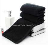 Black Color Cotton Plain Double Loop Hand Towel