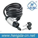 Yh1398 Waterproof Steel Retractable Cable Bike Lock Spiral Lock