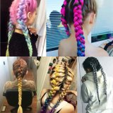 100g/Pack 24inch Kanekalon Jumbo Braids Synthetic Hair Ombre Two Tone Colored