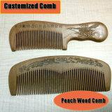 Customized Peach Wooden Hair Comb