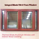 Customer Made Wood Aluminium Casement Windows for Caribbean Customer