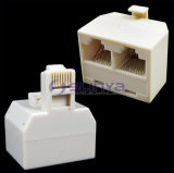 RJ45 Splitter Male to 2 Female Connector 8p8c Modular Duplex T Adapter Splitter