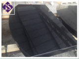 Polished Shanxi Black Granite Fireplace Hearth Base for Home Decoration