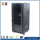 "Light Duty 19"" Glass Door Data Cabinet with Orange Color Strip"