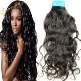 Factory Wholesale Natural Wave Virgin Wavy Indian Hair Weft Extension