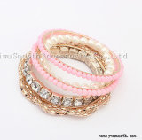 Fashion Multilayer Crystal Beads Tassel Bracelets Bangles Jewelry Accessories