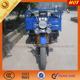 Hot Blue Three Wheeled Motorycle for Open Cargo