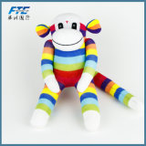 Hot Sell Sock Monkey Soft Stuffed Plush Monkey Kids Toy Doll