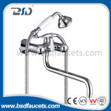 Polished Chrome Deck Mount Bath Faucet Mixer with Hand Shower