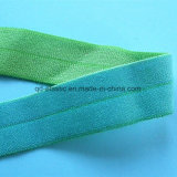 Two Tone Color-Way Satin Face Print Center Fold Elastic
