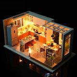 Miniature Dollhouse Model DIY Doll House with Furniture Building Kits Casa House for Dolls Toys for Children Christmas Gift