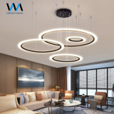 Round Circle Rings LED Pendant Lamp for Hotel Project Cheap New